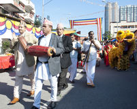 Cultural Show. KUALA LUMPUR, MALAYSIA, May 17 - Multiple cultural show ( Nepalis Music, Sri Lanka traditional dancer, lion dance and kompang) during the Royalty Free Stock Image