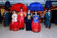 Cultural show at Incheon International Airport Royalty Free Stock Photography
