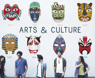 Cultural Traditional Masks Global Concept Royalty Free Stock Images