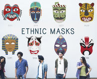 Cultural Traditional Masks Global Concept Royalty Free Stock Photos