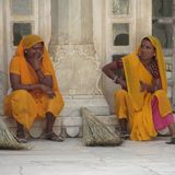 Culture Âgrâ Jaipur Delhi Varanasi du Népal d'Inde Images libres de droits