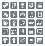 Culture and art, icons, gray, monochrome. Stock Image