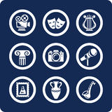 Culture and Art icons (set 12, part 1) royalty free illustration