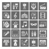Culture and art, icons, shading pencil, white, gray, vector. vector illustration