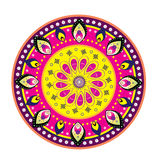 Culture Art Pattern. Flower pattern mandala design style Royalty Free Stock Images