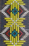 Culture art songke. This is a motif of ikat weaving in flores culture indonesia Stock Photos
