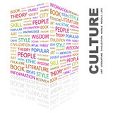 CULTURE. Background concept wordcloud illustration. Print concept word cloud. Graphic collage Stock Photo
