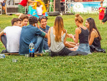 Culture Barrow outdoor place for teens relaxing 2015 Royalty Free Stock Photo