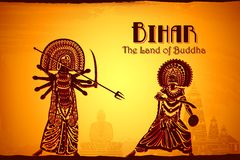 Culture of Bihar. Illustration depicting the culture of Bihar, India Royalty Free Stock Image