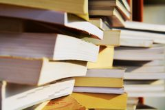 Culture and books, close up and background Royalty Free Stock Image