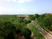 Uxmal, a Mayan archaeological site, in Yucatan, Mexico. Culture, civilization, maya, ruins, travel, tourism, building, landmark, historic, history, stone stock photos