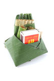 Culture comestible de consommation de paume de bétel de feuille de bétel de la Thaïlande Image libre de droits