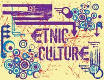 Culture d'Etnic illustration de vecteur