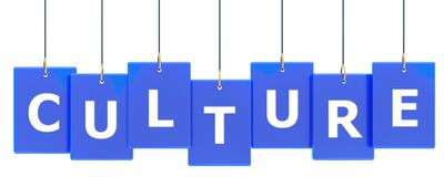 Culture tag banner. Culture 3d rendered tag banner , isolated on white background Stock Images