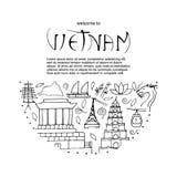 Culture de concept de construction rond du Vietnam Images stock