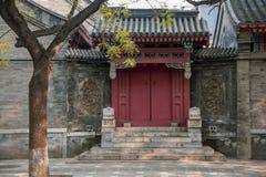 Culture de Hutong de résidence de Pékin dans Shichahai de Pékin Image libre de droits
