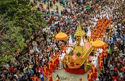Culture de nouvelle année du Laos dans Laungprabang Photographie stock libre de droits
