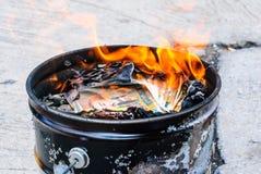 culture de papier de brûlure Images stock