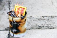 culture de papier de brûlure Photo libre de droits