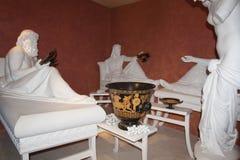 Culture de vin à la sculpture Shabo, région d'Odessa, Ukraine en photo de Dionysus Baccus d'un dieu de witn de colloque, le 20 ju Photos stock