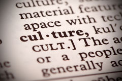 Culture Definition. The word Culture in a dictionary Stock Image