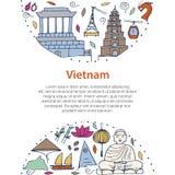 Culture du Vietnam Architectures asiatiques, symboles Photographie stock