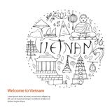 Culture du Vietnam Architectures asiatiques, symboles Photo libre de droits