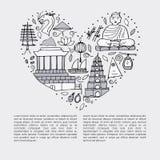 Culture du Vietnam Architectures asiatiques, symboles Image stock