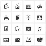 Culture and Entertainment Icons Royalty Free Stock Photos