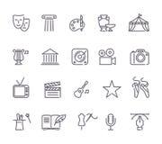 Culture et bon Art Line Icons Set créatif Photographie stock libre de droits