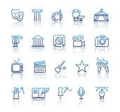 Culture et bon Art Line Icons Set créatif Images stock