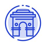Culture, Global, Hinduism, India, Indian, Srilanka, Temple Blue Dotted Line Line Icon royalty free illustration