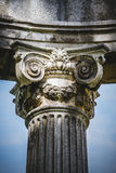 Culture, Greek-style columns, Corinthian capitals in a park Stock Photo