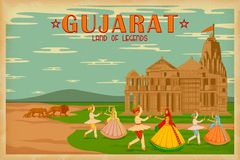 Culture of Gujrat. Illustration depicting the culture of Gujrat, India Stock Photos