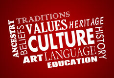 Culture Heritage Diversity Language Word Collage royalty free illustration
