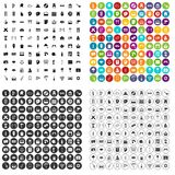 100 culture icons set vector variant. 100 culture icons set vector in 4 variant for any web design isolated on white Stock Photography