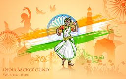 Culture of India. Illustration of colorful culture of India Royalty Free Stock Photos