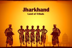 Culture of Jharkhand. Illustration depicting the culture of Jharkhand, India Royalty Free Stock Photography