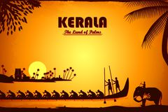 Culture of Kerala. Illustration depicting the culture of Kerala, India Royalty Free Stock Photography
