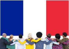 Culture Liberty Concept de nationalité de drapeau de pays de Frances Images libres de droits
