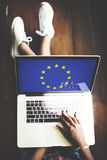 Culture Liberty Concept de nationalité de drapeau de pays de l'Union Européenne Photographie stock