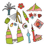 Culture of Malaysia. Main attractions, symbols. Stock Image