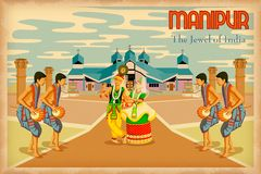 Culture of Manipur. Illustration depicting the culture of Manipur, India Royalty Free Stock Photo