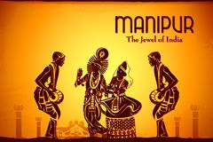 Culture of Manipur. Illustration depicting the culture of Manipur, India Stock Images