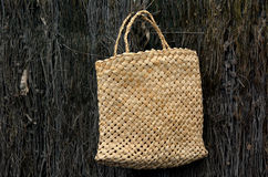 Culture maorie traditionnelle tissée de sac de lin Photographie stock