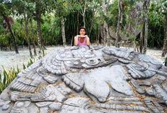 Culture maya l'explorant Photos stock