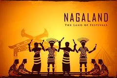 Culture of Nagaland. Illustration depicting the culture of Nagaland, India Stock Photos
