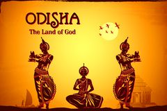 Culture of Odisha. Illustration depicting the culture of Odisha, India Stock Image