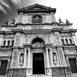 Culture old architecture in italy europe milan religion       a Royalty Free Stock Photo
