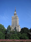 Culture palace in Warsaw. This is the highest building in Warsaw. A present of Josef Stalin to the polish folk in 1950s Royalty Free Stock Photos